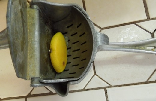 #4 Squeeze lemon. I love my lemon juicer I inherited from an aunt. I had been coveting it a long time. It's so easy to use.