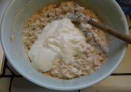 #7 Add yogurt. Mix well.