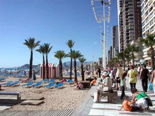 Ocotober 31st and plenty of Sunshine on the Playa de Llevante