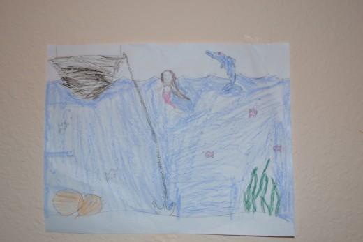 An ocean inspired art gallery entry