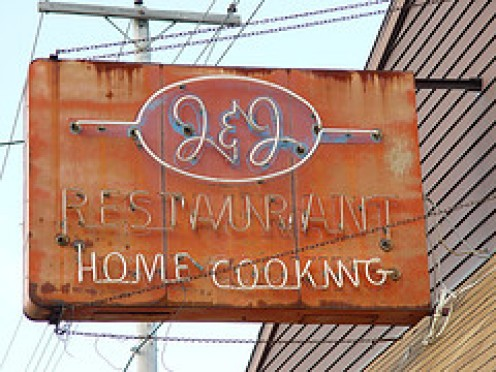 If a restaurant has rust on its sign and the neon seldom works, pretty good sign that this isn't a good place to eat.