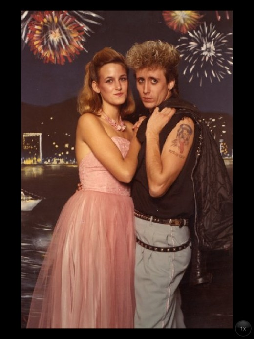 "1980's prom look. Very ""badass"" love the double belt!"