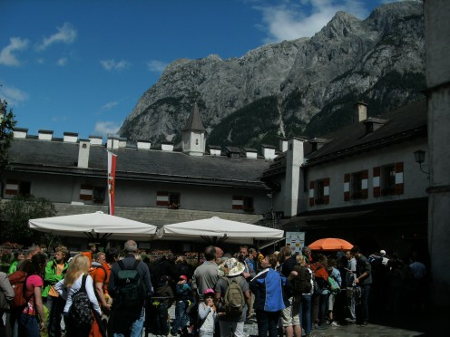 The courtyard of Burg Hohenwerfen!