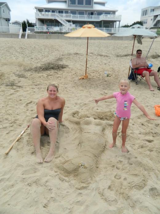 The winning mermaid sand creation