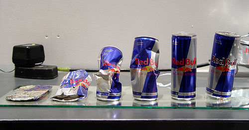 Redbull cans