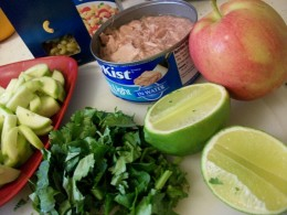 Some Main Ingredients for Tuna Pasta Salad