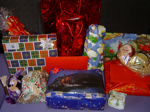 Presents!  And they're WAY better than birds and trees