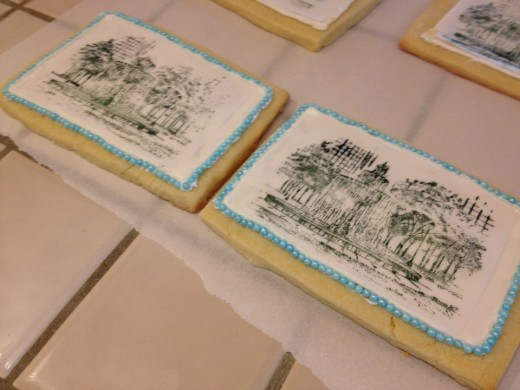 Postcard Sugar Cookies