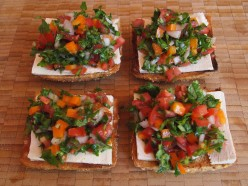 Healthy Lunch Ideas: 2 in 1 Salad / Tofu Bruschetta Recipe