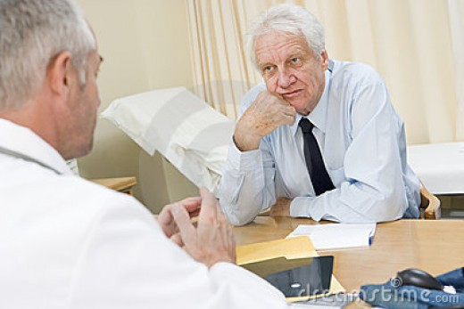 Consulting the doctor with your symptoms