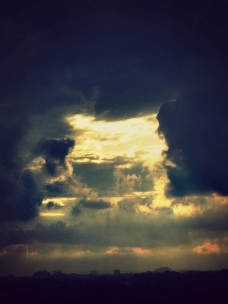 An open cloud shows promise, as she would relive old hopes from demise.