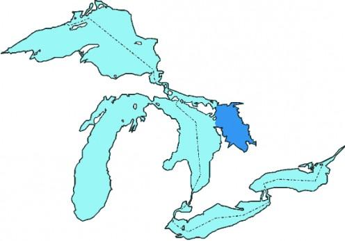Map: Great Lake, Lake Huron, Georgian Bay