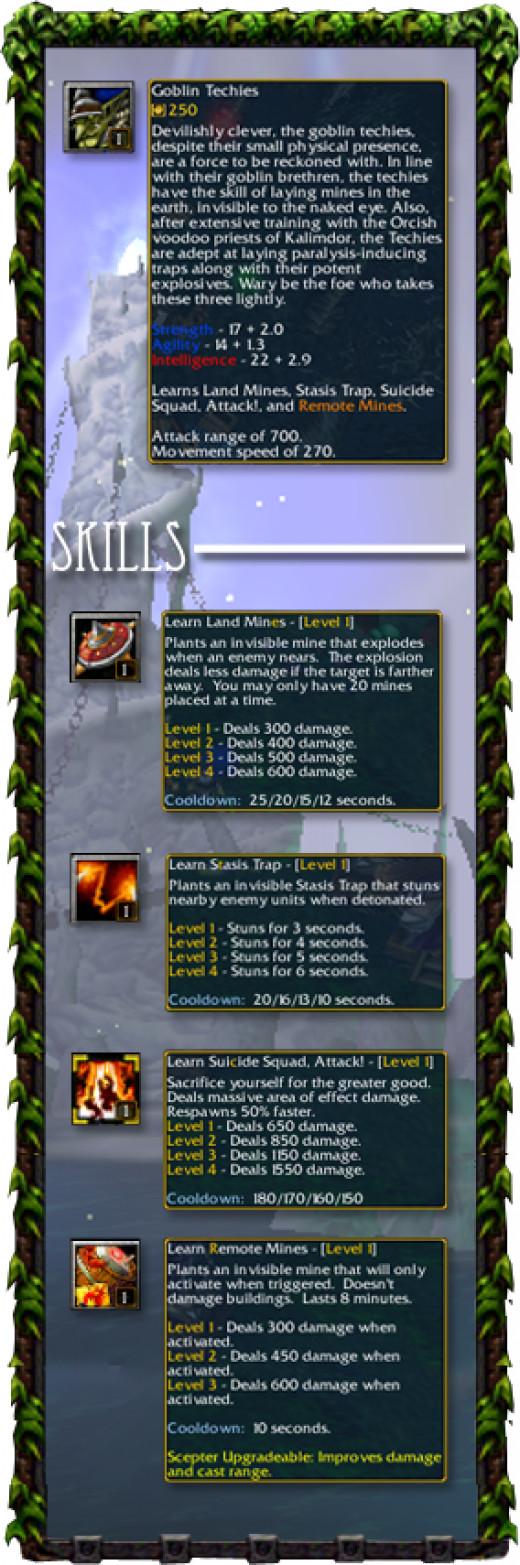 Goblin Techies Skills