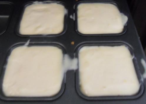 Pour the lemon filling over the shortbread.
