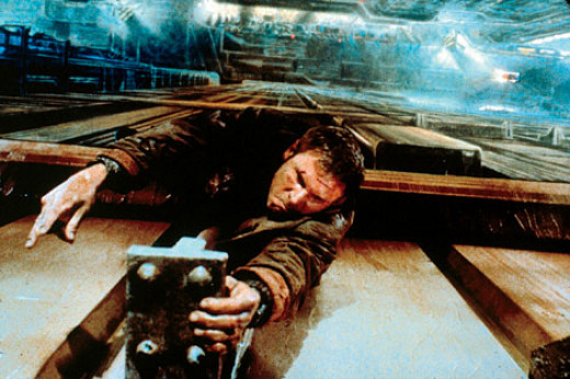 Harrison Ford as Deckard in Blade Runner, a film by Ridley Scott