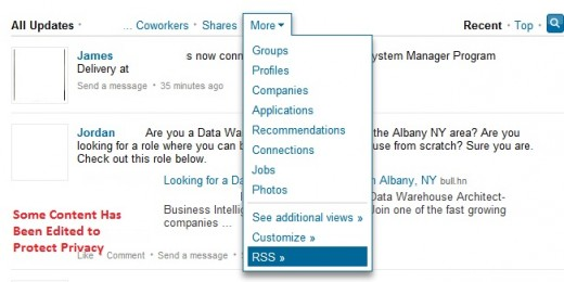 Find the RSS Feed On Your LinkedIn Updates Stream