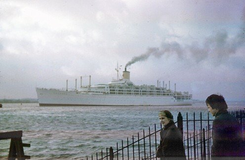 Steamship Orcades leaving for New Zealand