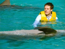 Me swimming with the dolphins!