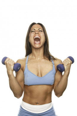 Yelling while lifting