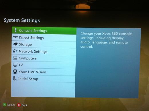 "Select ""Console Settings."""