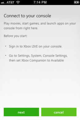 """Tap """"Next"""" when the Connect to Your Console screen appears."""