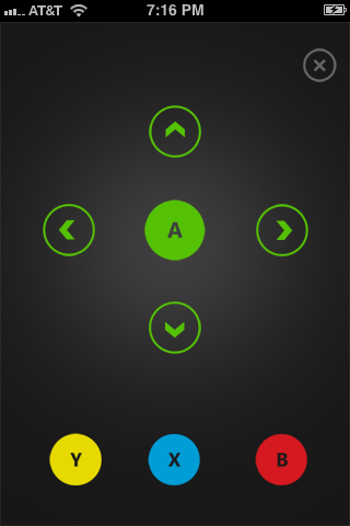 Tap the icon featuring three dots in the lower-right corner of the app to bring up a controller to navigate the Xbox menu.