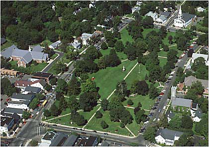 The historic Guilford green
