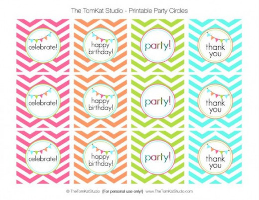 Colorful Cupcake Toppers