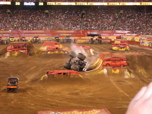 There was tumbling all night, but this is Hot Wheels!