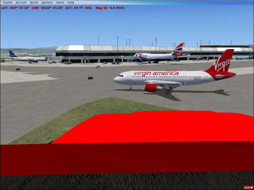 Virgin America, British Airways, and Jet Blue at San Francisco KSFO