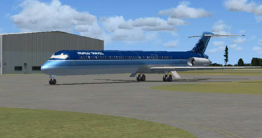 World Travel Airlines, one of the boring defaults, from FSX