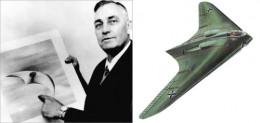 Kenneth Arnold's UFO sighting illustration