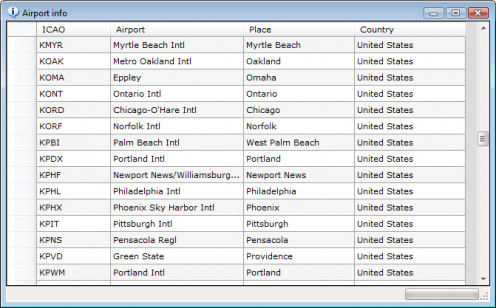 World Of AI makes it easy to see which airports your downloaded aircraft depart from and arrive at...This is the list of airports for Delta Airlines.