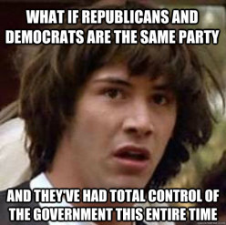 Are Democrats and Republicans the same party?
