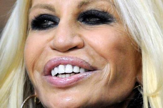 Donatella Versace close-up.