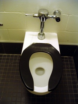 A toilet you can flush with your foot