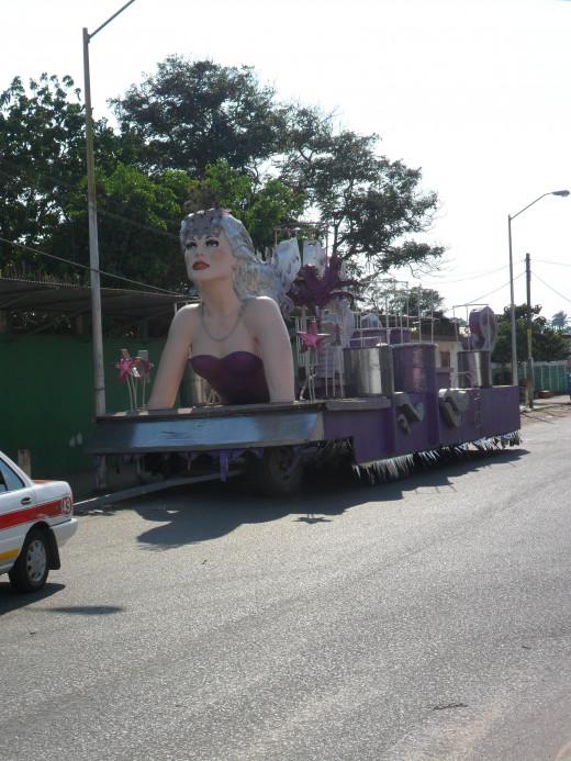 Festival float, Agua Dulce, Veracruz, Mexico