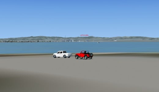 I also have a red jeep. Search Google for this car for FSX. You can download the jeep from the same websites as the BMW.