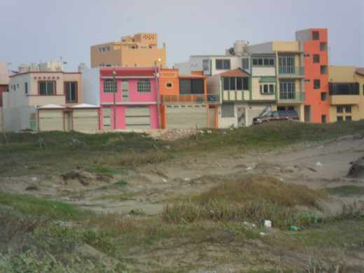 Upscale housing near the beach, Gulf of Mexico, Coatzacoalcos, Veracruz, Mexico