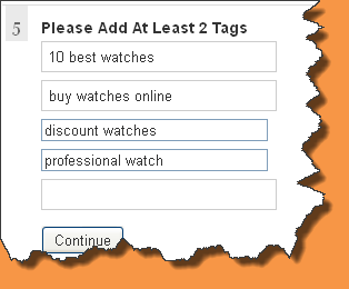 Add at least 10 applicable tags. The maximum allowable is 40.