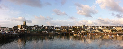 This photograph of Penzance Harbor was taken on August 19, 2006 by Mark Twyning.