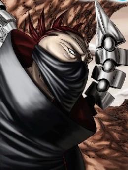 Sasori in his battle puppet Hiruko