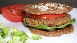 Raw vegan Veggie Burger
