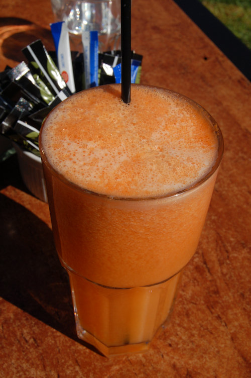 Yummy carrot and pineapple juice
