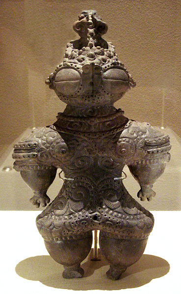 A dogu dating from 1000-400 BCE found in Miyagi Prefecture, Japan.