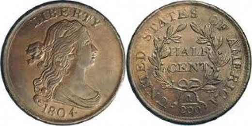 This is the style of the Draped Bust half cent.