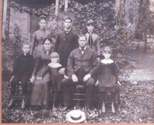 Family of John D. Wood, c. 1886