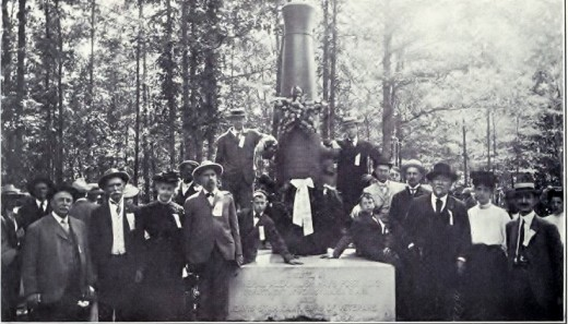 The dedication of General Hays' monument at the Wilderness Battlefield, 1905