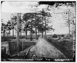 Photograph of some of the fortifications at Petersburg