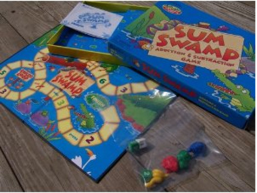 A great kids board game for practicing their math skills!